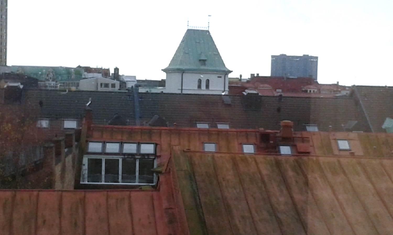 Tornet bakom Malmös takåsar